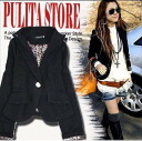 ☆ LL ~ 5 L ☆ new popular products ♪ lining Leopard pattern celeb casual Jacket ☆ ◎ order today will ship 2/18