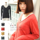 Soft touch ♪ photono over lace V neck ☆ cashmere touch ◎ order today 11/28 will ship