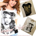Clearance sale! I am going to ship it on order about August 8 irregular design photo BIG print T-shirt ◎ today