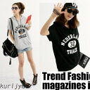 Clearance sale! I am going to ship it on order about August 18 casual print logo parka short sleeves T-shirt tops ◎ today