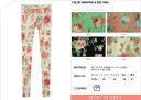 [JN] classical flower / floral design printspatsreggins / elegant / stretch bottoms pants skinny colorful ◎ order today will ship 3/30