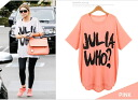 [JN] I am going to ship it on order about April 21 big logo print dolman cut-and-sew /T shirt / ゆる silhouette ◎ today