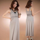 Sleeveless surplice-Maxi-length dress and less trap ◎ order today will ship 3/3