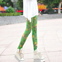 Clearance sale! I am going to ship it on order about August 29 belt elegant print color spats / leggings ◎ today
