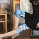 Romantic リアルローズ pattern and 7 minutes Length spats / leggings / tights • scheduled to ship today 11/13