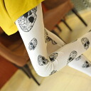 A scull is going to ship it on order about October 21 cute ♪ leggings / spats / color tights ◎ today