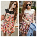 I am going to ship it on order about January 10 race reshuffling, floral design no sleeve flare one piece mini-◎ today