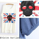I am going to ship it on order about April 25 British national flag X skeleton mark ☆ print T-shirt ☆ short sleeves ☆ casual ☆ scull ☆◎ today