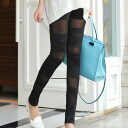 See-through switching, leggings pants and solid color ♪ beauty legs effect its bottoms pants skinny colorful ◎ order today will ship 2/10