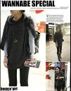 Poncho style percutunictops black khaki ◎ order today will ship 12/16