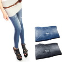 Clearance sale! I am going to ship it on order about August 1 denim-like leggings / spats / bottom / ◎ today