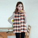 Plain x Plaid, long-sleeved shirt and blouse tops ◎ order today will ship 10/23