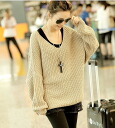 Know what V-Dolman loose sweaters/Tops 2 colors / ☆ knit ◎ today ordered will ship 2/23
