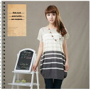 I am going to ship it on horizontal stripe short-sleeved one piece tunic ★ side tuck ◎ today order about March 31