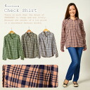 Clearance sale! I am going to ship it on order about August 20 checked pattern long sleeves shirt / organic cotton / tops ◎ today
