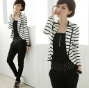 Outerwear, long-sleeved, striped dress up items ◎ order today will ship 1/5