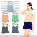 I am going to ship it on order about October 7 dot print bustier round tile substitute short sleeves peplum T-shirt ◎ today