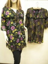 Flower print cute tunic, Camisole-bottlenecks slit full of frilly ◎ order today will ship 2/23