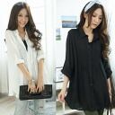 Blouse, long sleeve, chiffon shirts, sheer material • order today will ship 12/16
