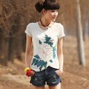 I am going to ship it on order about August 12 Japanese style floral design print, V neck T-shirt / short sleeves ◎ today