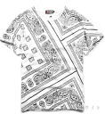 Paisley and monotone casual short sleeve T shirt: order today will ship 1/28