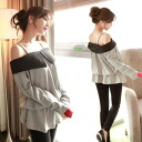 I am going to ship it on order about September 19 オフショル by color long sleeves cut-and-sew tunic tops ◎ today