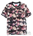 Tops, T shirts, short-sleeved, floral, crew neck ◎ order today will ship 2/4