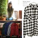 Check check pattern shirt ◎ order today will ship 3/19