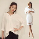 I am going to ship it on order about October 23 ゆる silhouette long sleeves shirt hemline ◎ today