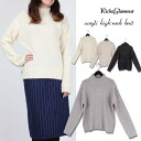 Sweater, high neck and knit-3 G Acryl high v-neck knit ◎ order today will ship 11/6