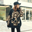 Camo skull and loose long sleeve sweat tops trainer tunic camouflage pattern