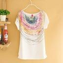 Handwritten multicolour illustration design T shirt / artistic / short sleeve: order today will ship 11/20
