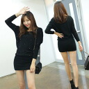 Dolman-sleeved minivampigstunic / tight / loose silhouette / Bijou accent T you ◎ order today 12/25 shipment plan