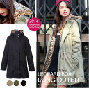 Leopard pattern with mods coat outerwear-hooded-casual item, stand neck ◎ order today will ship 1/20