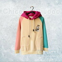 Raglan sleeves, thick hoodies pullover tops, pastel colors and bear embroidered-hooded ◎ order today will ship 2/18