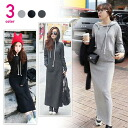 Hooded sweater material and Maxi-length long-sleeved dress, simple plain and relaxed casual ◎ order today will ship 2/2