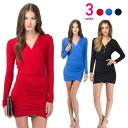 Kashkul, long-sleeved, laptitoinpeacemini, adult SEXY, party, red, blue, black ◎ order today will ship 2/2