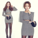 West Sea through, houndstooth powshoultitewanpeacemini and monotone, adult SEXY ◎ order today will ship 1/27