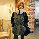 Mods coat military coat short coat outerwear lined bore Melton Womens casual West branding • order today will ship 4/30