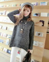 Loose long sleeve NET tops Turtleneck Sweater Women's thick mix Puti casual Brown green grey: order today will ship 5/20