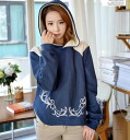 Hoodies women's long sleeve pullover pattern with hood tops casual personality sweat trainer ◎ order today will ship 3/9