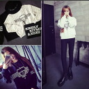 Trainer tips ladies logo Mono into tone pullover sweatshirts casual casual loose loose silhouette ◎ order today will ship 3/2