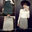 Miniskirt wrapped skirt square type semi tight skirt mini length sexy stocky ◎ today ordered will ship 6/8