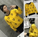 Trainer Womens logo character print long sleeve sweat tops Romare casual ◎ order today will ship 4/6