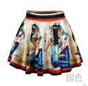 Skirt Womens mini skirt flare printed pattern ethnic casual volume sexy SEXY bottoms ◎ order today will ship 3/9