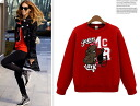 Trainer women's Sweatshirts long sleeve casual dinosaur round neck tops casual logo trainer print ◎ order today will ship 3/2