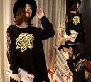 Long trainer belted A line long sleeve sequin sleeve switching crewneck mini round neck-length short length Black Black tunic: order today will ship 7/3