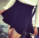 Free mini skirt bottoms mini short micro mini racing switch Black Black casual sexy cute ◎ order today will ship 3/24
