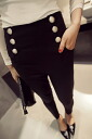 Beauty leg pants classical casual straight women's beauty silhouette skinny leg pain elbow-length simple plain ◎ order today will ship 5/21
