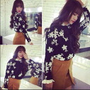 Pretty floral embroidery Long Sleeve Tops with Ruffles ladies flower motif layering wind batoumusume adult Black Black monotone ◎ order today will ship 4/3